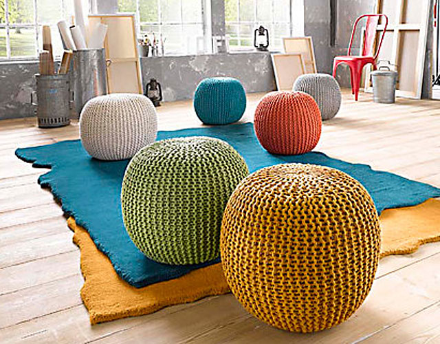 knot bodenkissen knautschige pouf variante. Black Bedroom Furniture Sets. Home Design Ideas