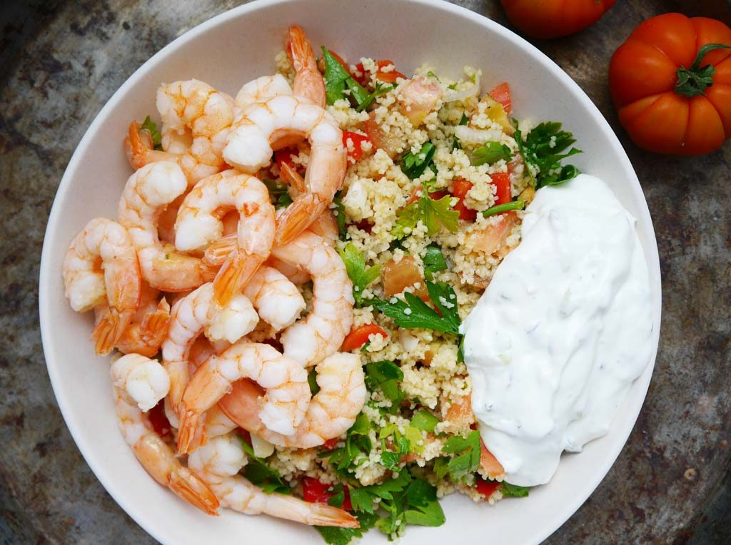 Couscous-Shrimps-Bowl Rezept